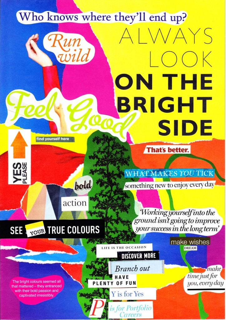 Look on the Bright Side collage
