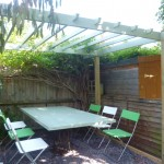 After: Bird Pergola and door table
