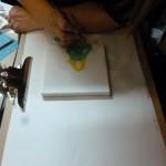 Sonya working on a gorgeous portrait