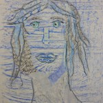 Self-portrait collage from rubbings inspired by Nigel Henderson
