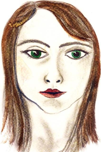 Self-portrait painted