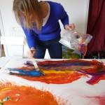 Karen mid-workshop