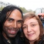 Windswept with Kanu the Hair Cowboy after my street haircut in Paris