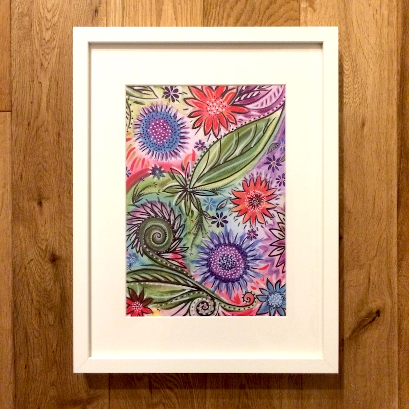 Bright Flowers A4 print