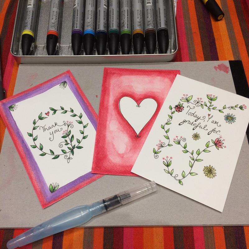 Creating Gratitude Cards